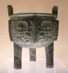 Taotie mask on Shang bronze