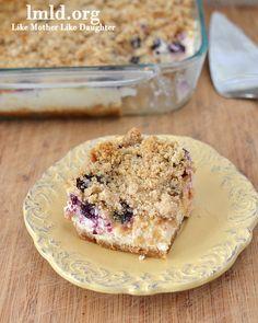 Blueberry boysenberry cheesecake squares