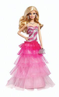 Barbie - Vestido de gala Ruffle (Mattel BFW18): Amazon.es: Juguetes y juegos