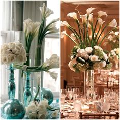 We truly believe that your wedding reception should be absolutely stunning. That's why we are sharing some of the most magnificent centerpieces that we could find. With everything from tall floral arrangements to gorgeous hanging crystals, you pretty much can't go wrong. Check out the alluring centerpieces below. White wedding branch centerpieces with blooming flowers […]
