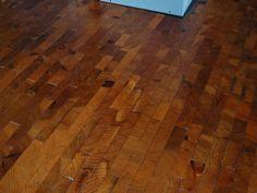 Reclaimed end grain wood floors