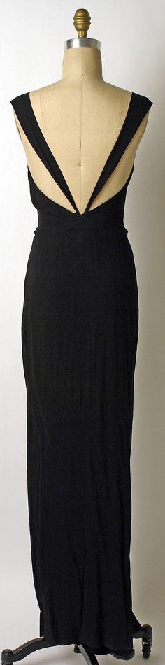 Silk evening dress, House of Lanvin, 1933, rear view