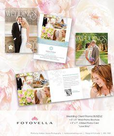 Wedding Photography Marketing Bundle -  5x7 Promo Card PLUS - 5x5 Trifold Brochure - by FOTOVELLA