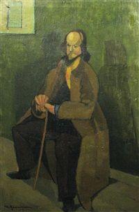 Man with Cane, 1938, Merica Ramniceanu