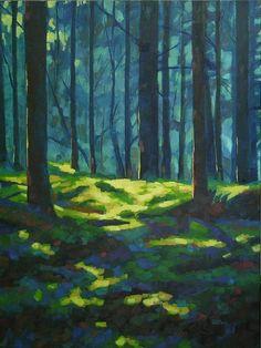 by mary McInnis A Quiet Place Painting - A Quiet Place Fine Art Print landscapeart Art Painting Tools, Forest Painting, Forest Art, Guache, Landscape Art, Pastel Landscape, Landscape Borders, Landscape Tattoo, Landscape Design
