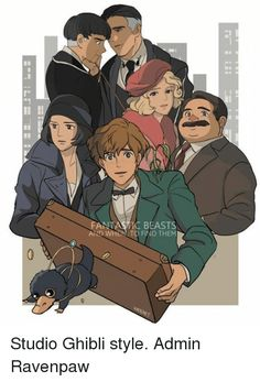 If Fantastic Beast was done by Studio Ghibli Fanart Harry Potter, Mundo Harry Potter, Harry Potter World, Fantastic Beasts Fanart, Fantastic Beasts And Where, Scorpius And Rose, Desenhos Harry Potter, Harry Potter Universal, Manga Comics