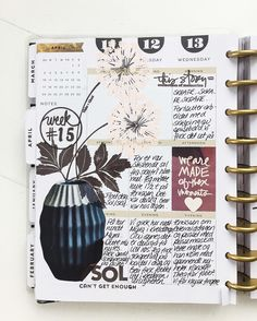 Left side of week 15 in my #happyplanner #thehappyplanner #plannergirl #planneraddict #plannerlove #plannerlife #plannerstyle #filofax #kikkik #studiocalico #organizer #scrapbook #scrapbooking #memorykeeping #meandmybigideas #aliedwards #storykit #kelliestamps #stationary #emboss by ragnhildgrimstvedt