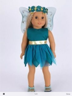 American Girl Doll Costume Tinker Bell | eBay