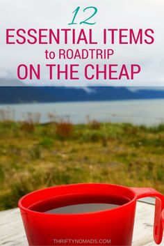 Save $ on your next trip with these 12 items. Youll never want to hit the road without them! #roadtrip #budgettravel