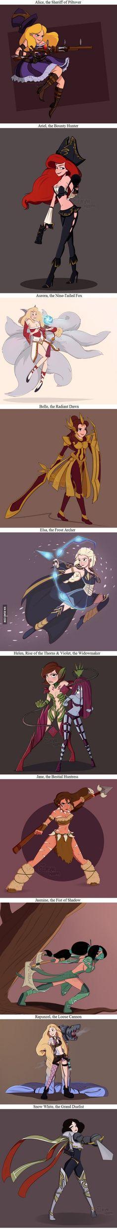 Disney-Prinzessinen in Comic-Art gezeichnet. Wenn Findet ihr am besten? Ich Arielle ^-^