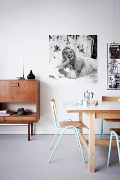 IXXI wall decoration made with a picture of the always beautiful Marilyn Monroe. The picture can be seen at the National Portrait Gallery in London. The IXXI in this example will cost $108.25 (100 x 100 cm). #ixxi #ixxidesign