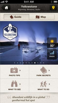 National Geographic Park Guides App