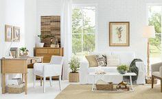 madeira e fibra natural  nesta decoração leve e aconchegante.