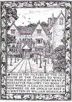 Kelmscott Manor garden by William Morris