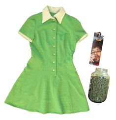 """""""Happy 420, babes!"""" by taccachantrieri ❤ liked on Polyvore featuring GREEN and 420"""