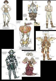 Steampunk Paper Doll Set - Very Cool!