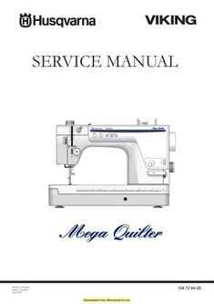 Elna Explore 340 Sewing Machine Service Manual Manual