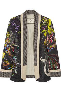 Etro - Floral-print jacquard blazer
