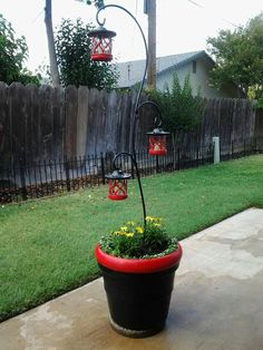 Mickey Mouse planter and lights !!