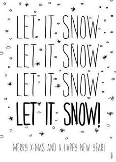 FDBCK cards - let it snow kaart (Voorzijde) Noel Christmas, Merry Little Christmas, Christmas Is Coming, Christmas Signs, Christmas And New Year, Winter Christmas, Christmas Garden, Christmas Trends, Christmas Decorations