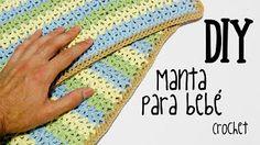 crochet para manta de bebe - YouTube