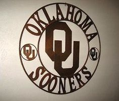 ou oklahoma sooners metal home wall decor west new Tennessee Titans Football, Oklahoma Sooners Football, Sports Man Cave, Plasma Cutter Art, Man Cave Gifts, Boomer Sooner, University Of Oklahoma, Man Cave Home Bar, Ou Sports