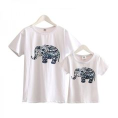 * Elephant pattern<br /> * Soft and breathable<br /> * Round collar<br /> * Material: 100% Cotton<br /> * Machine wash, tumble dry<br /> * Imported<br /> <br /> Thai style elephant pattern add trendy to this solid soft cotton mom and me t-shirt.