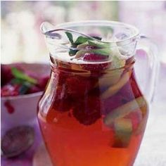 Jugs of Pimms - It is one of the two staple drinks at Wimbledon, the Henley Royal Regatta, and the Glyndebourne opera festival, the other being Champagne.