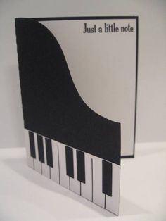 Shaped Piano Card by PedalPower - Cards and Paper Crafts at Splitcoaststampers