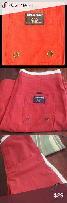 Men's Abercrombie swim trunks NWT Brand new swim trunks size L however they appear to run possibly a size larger, this being why I need to sell them!  55% cotton and 45% nylon Abercrombie & Fitch Swim Swim Trunks