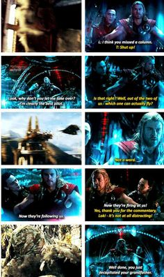Thor 2 spoilers.....the sass of Loki...My second favorite scene between the brothers :) Loki's sass <3
