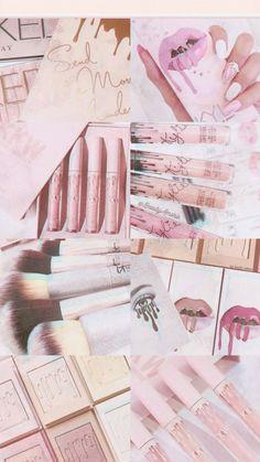 Makeup Backgrounds, Backgrounds Girly, Makeup Wallpapers, Aesthetic Backgrounds, Aesthetic Iphone Wallpaper, Cute Wallpapers, Aesthetic Wallpapers, Pink Wallpaper Girly, Cute Girl Wallpaper