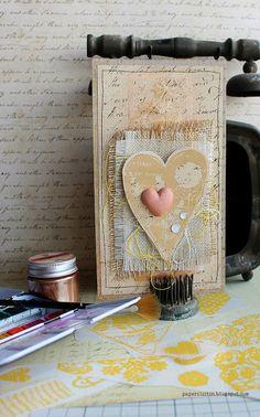 Riikka Kovasin - Paperiliitin: Heart to heart - demo at Leimailutaivas