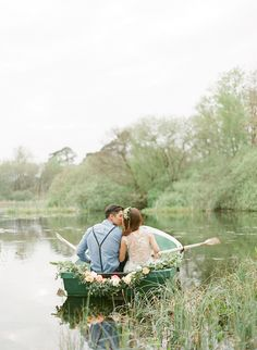 Rowboat engagement // Shaun and Sarah's Picturesque Engagement Shoot in Scotland #fineartphotography