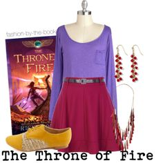 Outfit inspired by Rick Riordan's The Throne of Fire (The Kane Chronicles series)