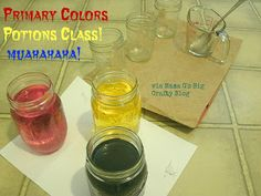 Primary Colors Potions Class! Great art project for kids!