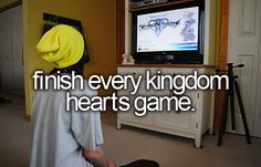 One of my many goals in life. I've played Kingdom Hearts Chain of Memories, Days, Coded. Birth By Sleep, Dream Drop Distance, 3 left to go!