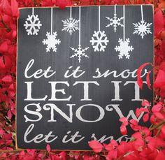 Let it Snow Vinyl Wooden Subway Art Sign 12 x by HDVinylDesigns, $20.00