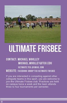 Ultimate Frisbee Ultimate Frisbee, Sports Clubs, Hold On, College, University, Colleges, Community College