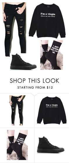 """""""Lovely boy"""" by tallkid ❤ liked on Polyvore featuring Klique B, Killstar and Converse"""