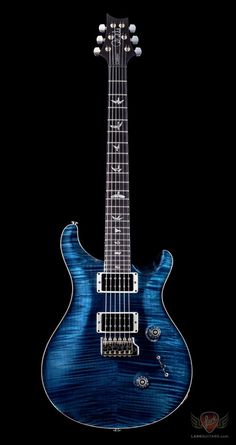 The Custom 24 is the original PRS; since its introduction, it has offered a unique tonal option for serious players and defined PRS tone and playability, allowing for fast effortless playing all o. Guitar Inlay, Prs Guitar, Guitar Shop, Cool Guitar, Acoustic Guitar, Guitar Rack, Custom Bass, Custom Guitars, Guitar Photos