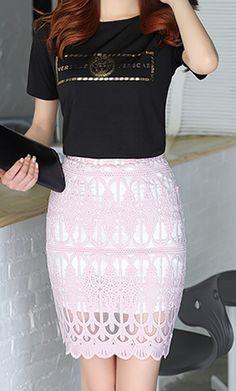 27baace1571e Mesh Pencil Skirt (Allure Series B001) 3 Colors - free shipping worldwide
