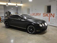 Bentley Continental GT Nero Opaco: dopo la lavorazione, dettaglio fiancata