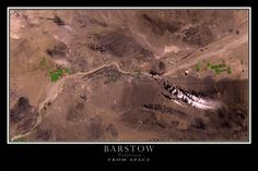 Barstow California Satellite Poster Map