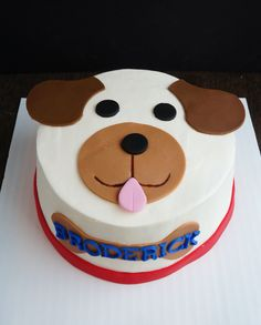 Puppy Smash Cake Windycitydinnerfairy Treatsbywcdf Birthday Cakes Themed Dog