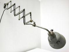 Arbeitsleuchte Scherenlampe Industriedesign Schreibtischlampe 30er Art Déco
