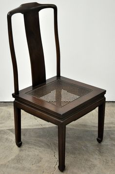 John Stuart Elegant Set Of Six Walnut And Cane Dining Chairs Adorable Cane Dining Room Chairs Review