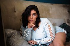 Tied Up (Nadia Aboulhosn) Nadia Aboulhosn, Fat Girl Fashion, Plus Size Boudoir, Tied Up, Boudoir Photos, Hey Girl, Curves, Bodycon Dress, T Shirts For Women