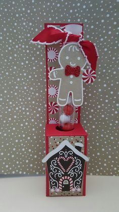 Cookie Cutter Christmas with Candy Cane Lane paper and Paper Pumpkin test tube treat by Valerie Sanchez! Christmas Treat Bags, Christmas Craft Fair, Christmas Paper Crafts, Holiday Crafts, Christmas Ideas, Test Tube Crafts, Test Tube Holder, Candy Crafts, Craft Show Ideas
