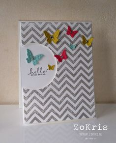 Stampin' Up! - Positively Chevron, Six Sided Sampler, Beautiful Wings - ZoKris
